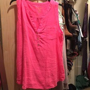 Lolly Pulitzer sz L hot pink sleeveless top